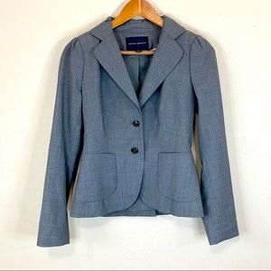 Banana Republic Gray Blazer Wool Great Fit Stretch